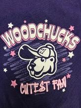 Girl's Purple 'Cutest Fan' T-shirt